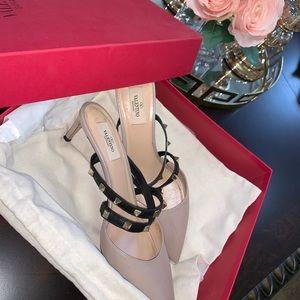 Valentino Shoes - Valentino rockstud nude Heels